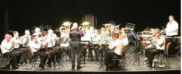 The MactTaggart Scott Loanhead Brass Band on stage at the Fife Charities Brass Band Contest, September 28th 2019. (c) Julie Nicoll